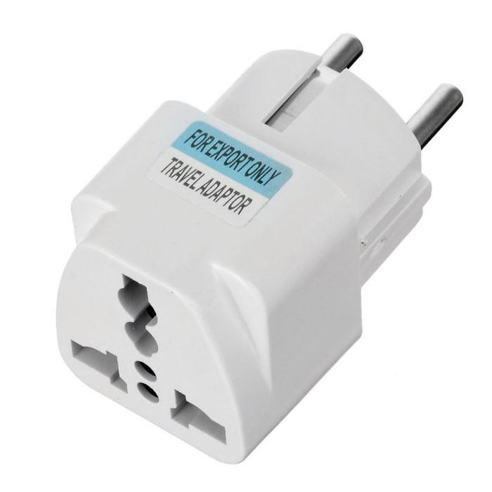 Переходник Евро вилка AC Plug Travel Adapter