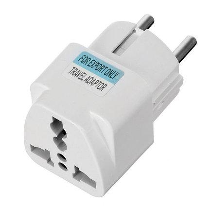 Переходник Евро вилка AC Plug Travel Adapter, фото 2