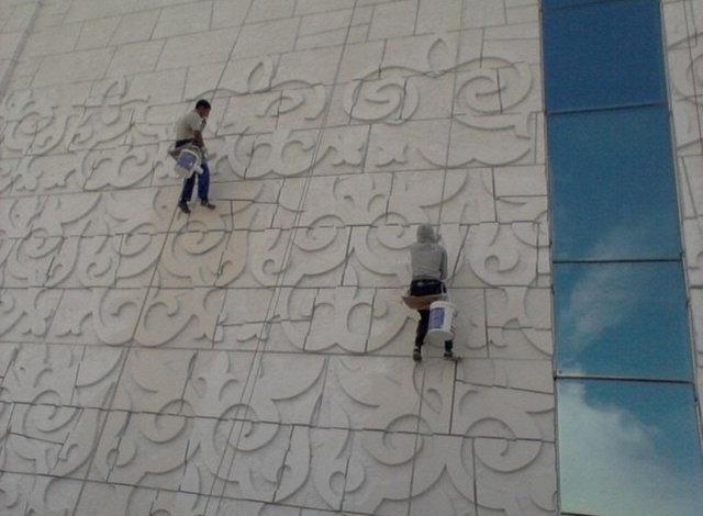 Покраска фасада здания национального музея истории Казахстана / 2014 год 5