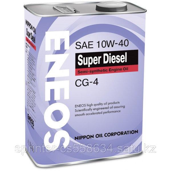 Моторное масло ENEOS SUPER DIESEL 10w40 4 литра