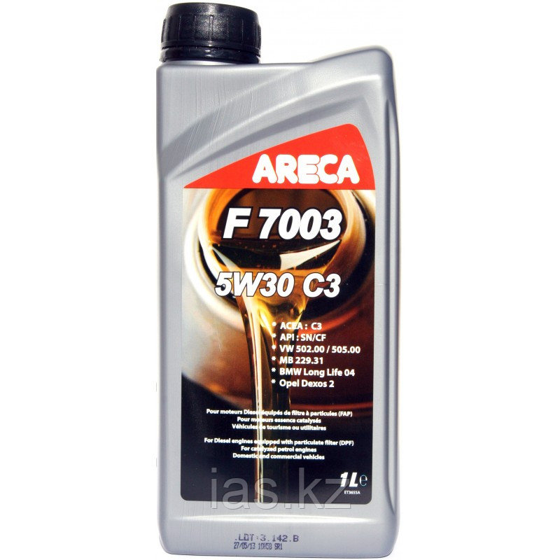 Моторное масло ARECA F7003 C3 5w30 1 литр