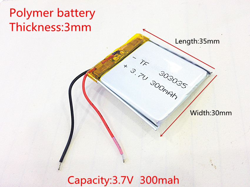 Аккумулятор 3,7v 260mAh 303035  3x30x35мм