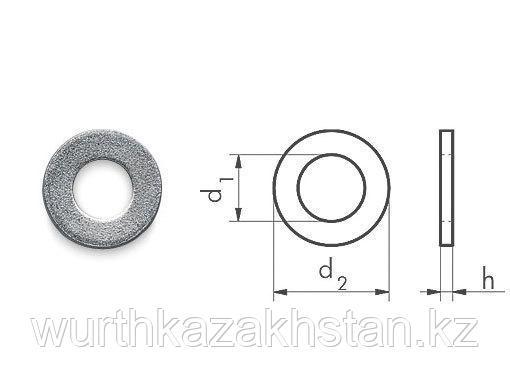 Шайба белая оцинк. сталь d.  3,0