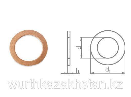 Медное уплотнит. кольцо 42X51X2 DIN7603