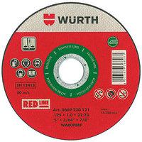 Отрезной диск -A2-BR22,2-D180Х1,8MM RED нерж