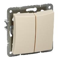 Двухклавишный выкл.СХ5, мех-м, бежевый