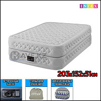 Двухспальный надувной матрас Intex 64464, размер 152х203х51см, фото 1