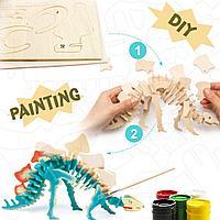 3D Puzzle Стегозавр, конструктор-раскраска