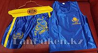 Кикбоксерская форма GF-00158 (майка+шорты синие)