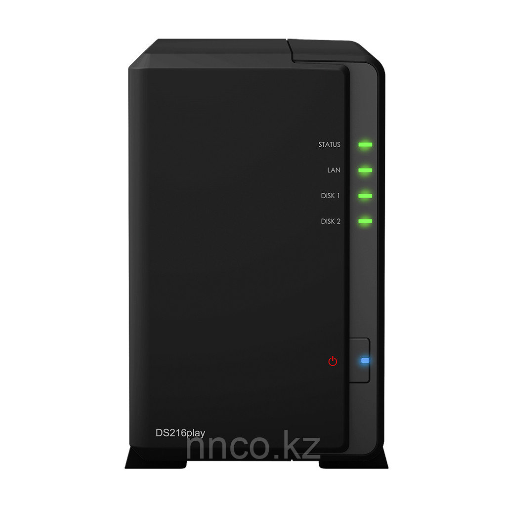Synology DS216play 2xHDD NAS-сервер «All-in-1» NEW, совместим со SMART TV
