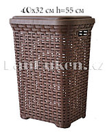 Корзина плетеная для белья 40х32х55 см 45 л 05006 коричневая