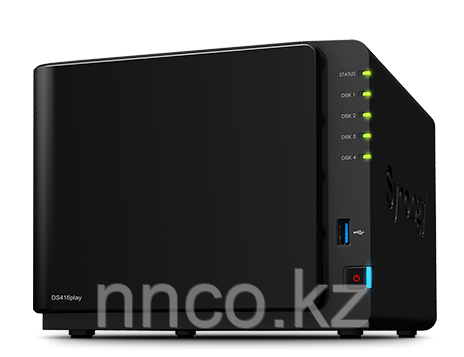 Synology DS416play 4xHDD NAS-сервер «All-in-1», совместим со SMART TV