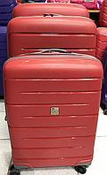 Карбоновый чемодан красный