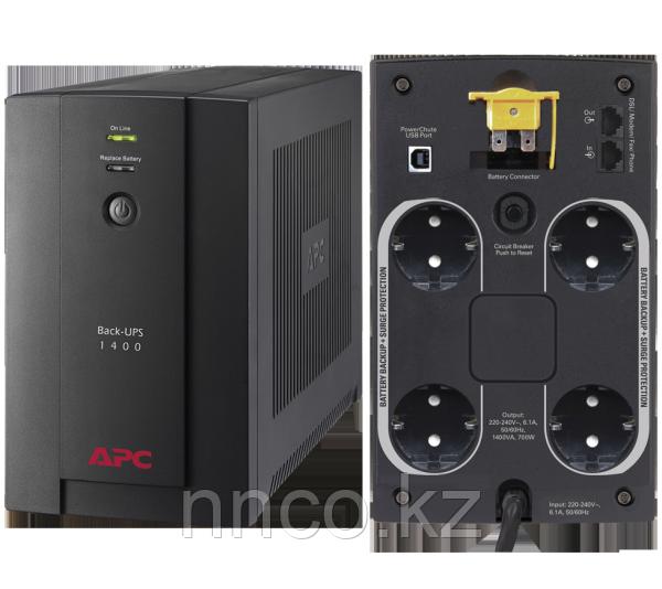 UPS APC/BX1400U-GR/Back/AVR, 4 Schuko, USB, RJ-11/1400 VА/700 W