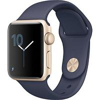 Apple Watch Series 1, 38mm Gold Aluminium Case with Midnight Blue Sport Band (MQ102)