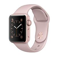 Apple Watch Series 1, 38mm Rose Gold Aluminium Case with Pink Sand Sport Band (MNNH2)