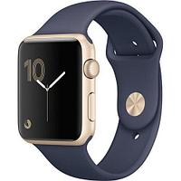 Apple Watch Series 1, 42mm Gold Aluminium Case with Midnight Blue Sport Band (MQ122)