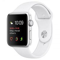 Apple Watch Series 1, 42mm Silver Aluminium Case with White Sport Band (MNNL2)