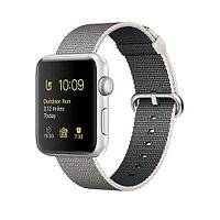 Apple Watch Series 2, 38mm Silver Aluminium Case with Pearl Woven Nylon Band (MNNX2)