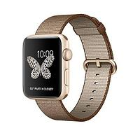 Apple Watch Series 2, 42mm Gold Aluminium Case with Toasted Coffee/Caramel Woven Nylon Band (MNPP2)