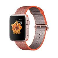 Apple Watch Series 2, 42mm Rose Gold Aluminium Case with Orange/Anthracite Woven Nylon Band (MNPM2)