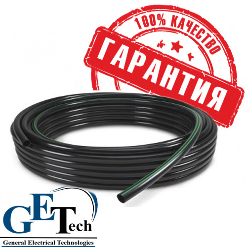 Труба ПНД (полиэтилен низкого давления, чёрная) для прокладки кабеля