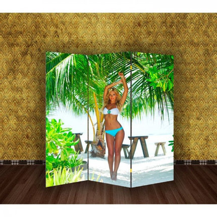 "Ширма ""Девушка на пляже"" 150х160см, фото 2"