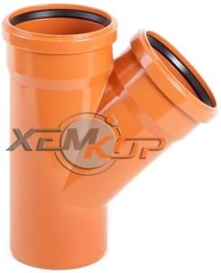 Тройник канализационный 200*200*45