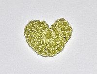 Сердце вязаное (2 см.) - оливковое