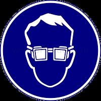 Знак работать в защитных очках