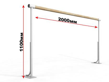 Балетный напольный однорядный станок 1м, фото 2