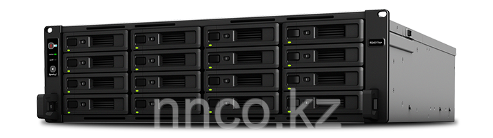 Synology RS18017xs+  12xHDD 2U NAS-сервер, SAS HDD, SSD кэш, 2 блока питания (до 180-х HDD модуль RX1217sas)
