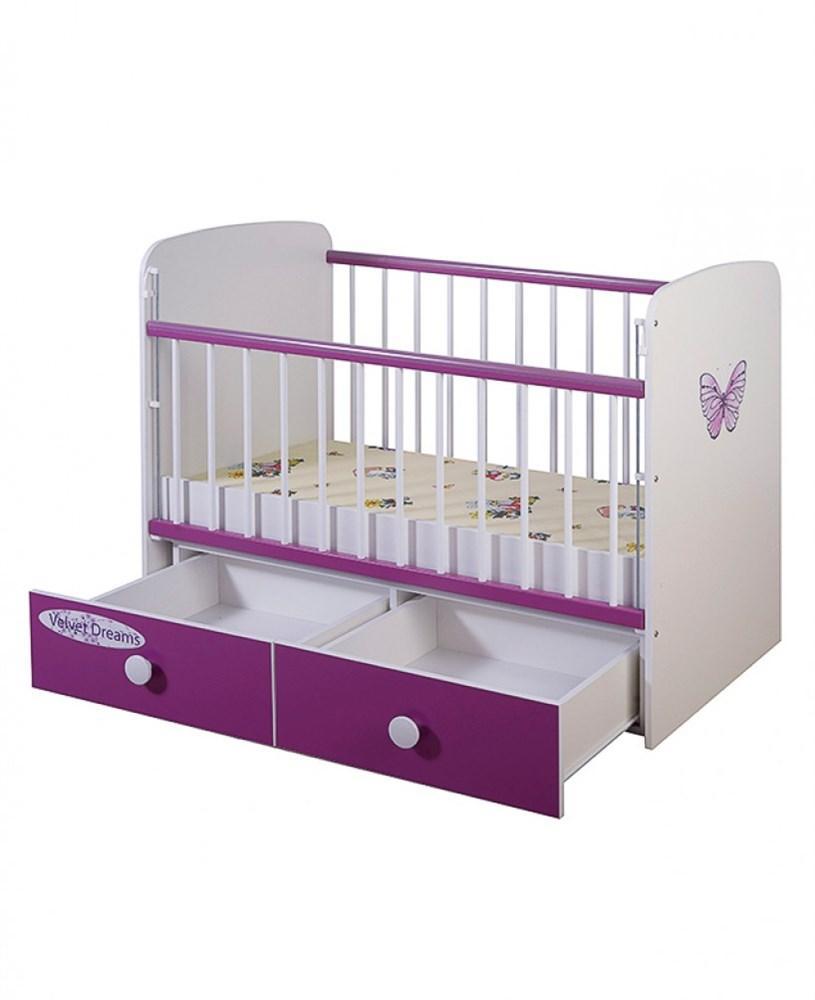 Кроватка для новорожденных Glamvers Magic Plus(Фиолетовый)