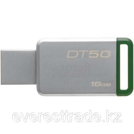 Kingston DT50/16GB метал, 16Гб, USB 3.0