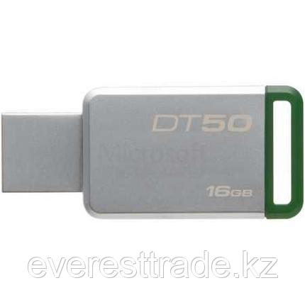 Kingston DT50/16GB метал, 16Гб, USB 3.0, фото 2