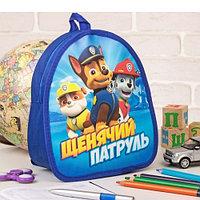 Детский рюкзак ПВХ Лучшие друзья Крепыш Гонщик Маршал Paw Patrol 21 x 25 см