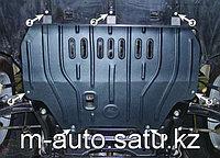 Защита картера двигателя и кпп на Mitsubishi Outlander/Митсубиши Оутлендер 2000-2007