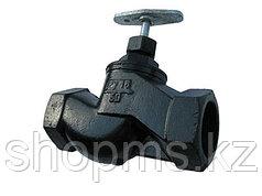 Клапан запорный чугунный 15кч18п (33п) Ду15