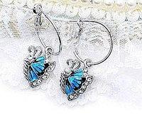 "Серьги ""Синие бабочки"", фото 1"