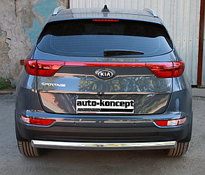 Защита заднего бампера (овал) на Kia Sportage 2016-, D 75х42