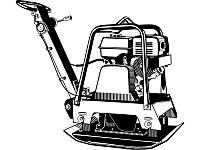 """Виброплита ЗУБР """"ПРОФЕССИОНАЛ"""" реверсивн хода, бензин, 25кН, плита 630*400мм, двигатель Honda GX160, 4.0кВт(5., фото 1"""