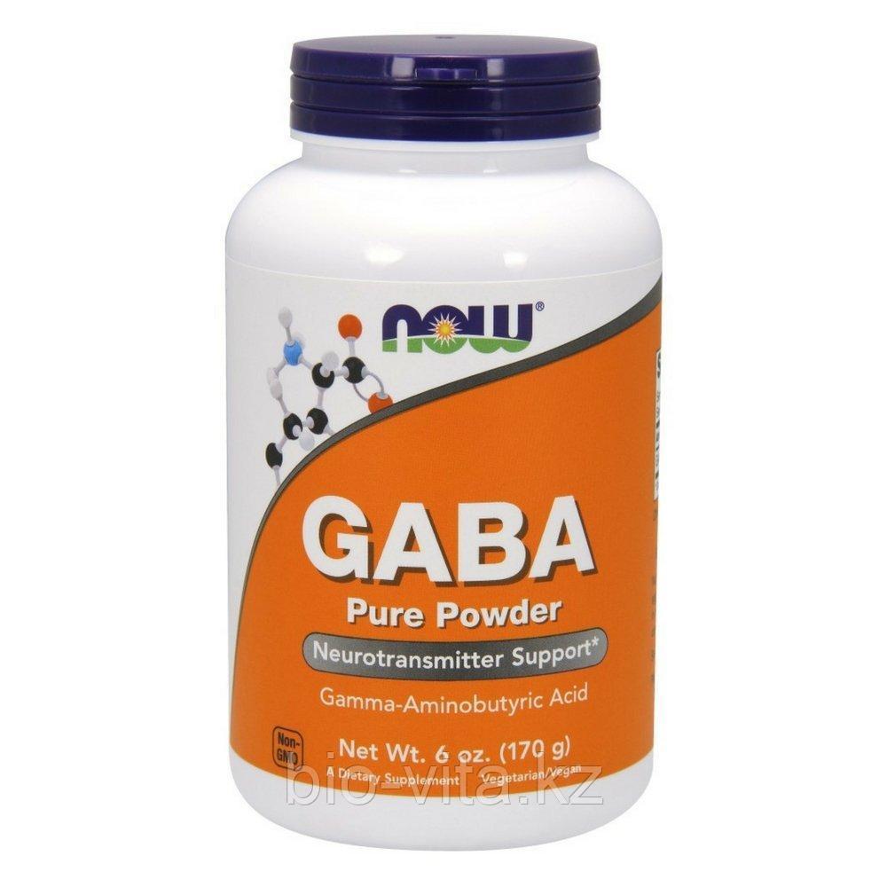 ГАМК, (GABA), 170 гр.=340 порций по 500 мг. каждая.  Now Foods.