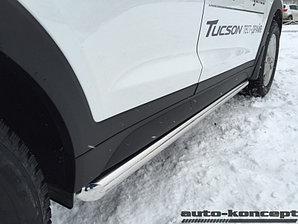 Пороги труба D 60,3 Hyundai Tucson 2015-