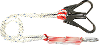 Строп с амортизатором текстильный, со стальным карабином и захватом