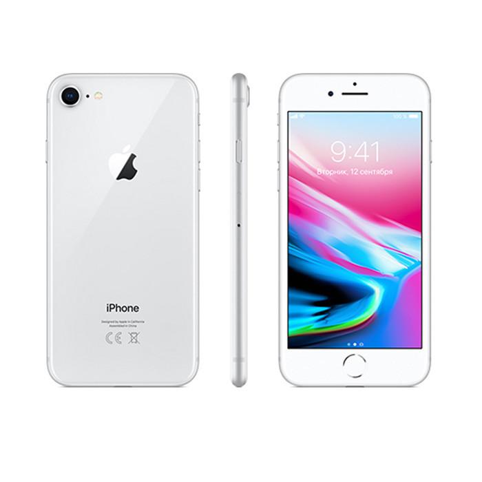 IPhone 8, 64 Гб, серебристый