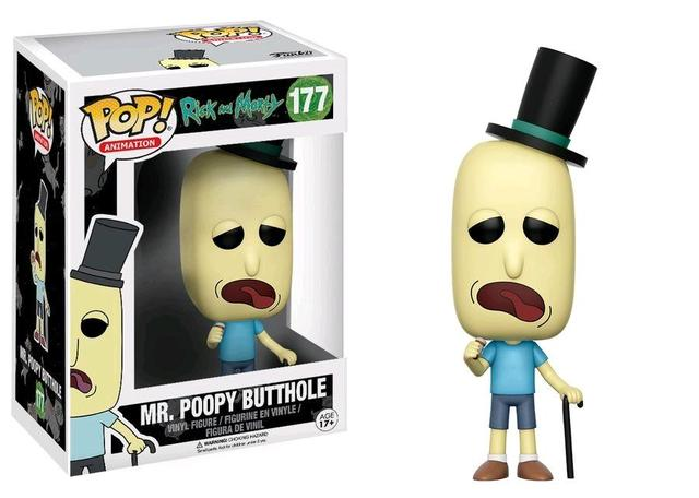 "Фигурка ""Рик и Морти – Мистер Жопосранчик"" (#177 Rick and Morty – Mr. Poopy Butthole Pop! Vinyl Figure)"