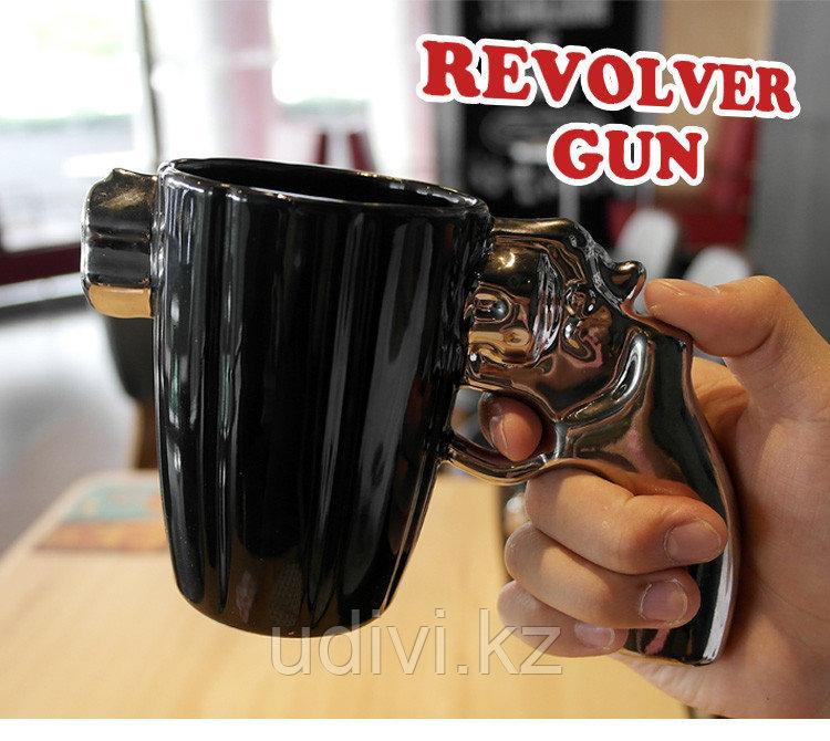 Кружка Серебряный револьвер