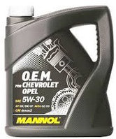 Моторное масло MANNOL O.E.M. for Chevrolet Opel 5w30 4 литра