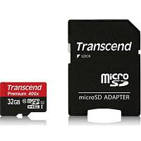 Карта памяти Micro SD 32Gb Transcend TS32GUSDU1, microSDHC 32GB class10 UHS-1 (SD adapter) 517666