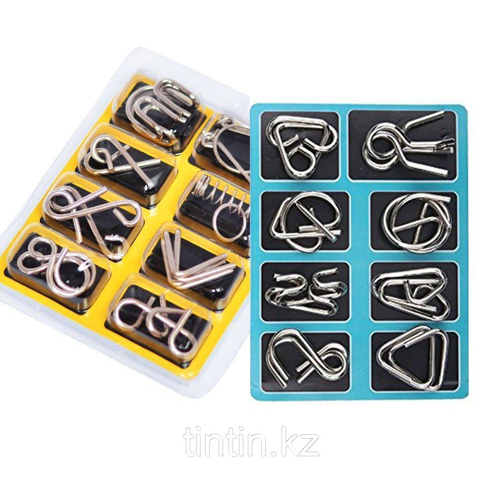 Металлические головоломки, 8 шт в комплекте